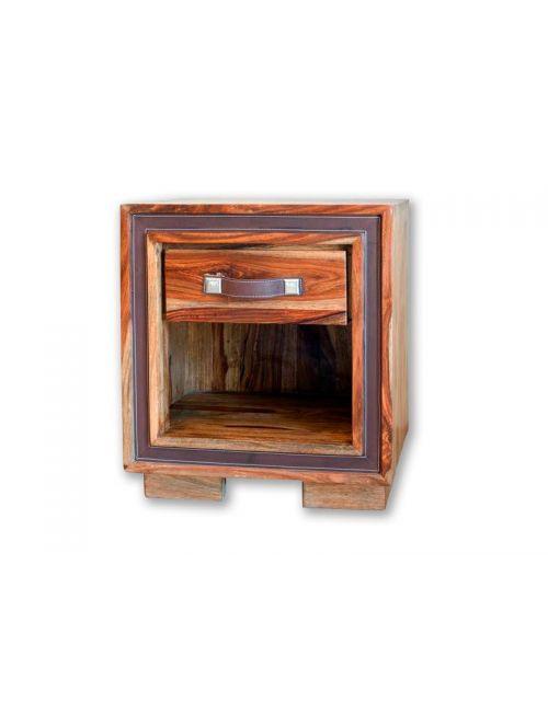 Stolik drewniany / Szafka nocna Milan (1+1) 51 x 45 x 35
