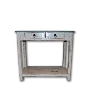 White Stolik nocny Loft Industrial 80x40x73