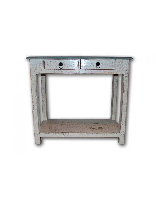 White Stolik nocny Loft Industrial 80 x 40 x 73