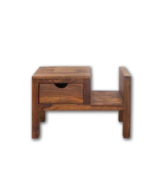 Stolik drewniany nocny / Gazetnik PU Brown / PRAWY