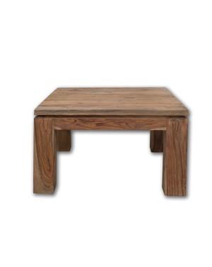 Stolik kawowy 80 x 80 drewniany Natural