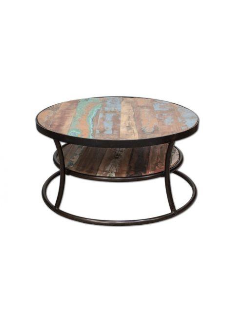 Okrągły stolik kawowy 90 x 90 palisander