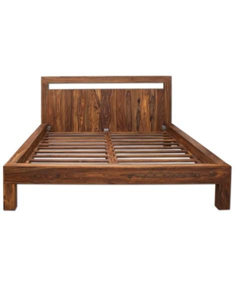 łóżko Drewniane 180 X 200 Pu Brown Mandallin Meble Kolonialne
