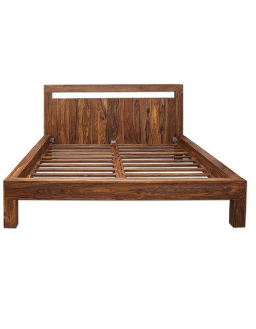 Łóżko drewniane 180 x 200 PU Brown