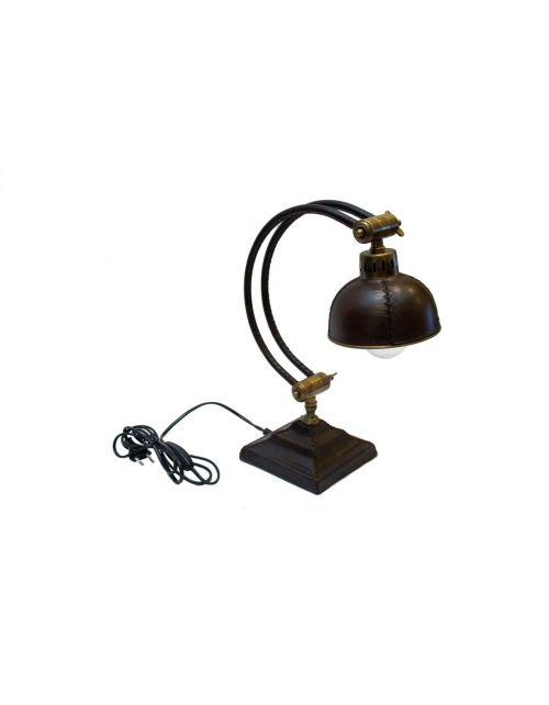 Skórzano - mosiężna lampa na biurko LAM-0026