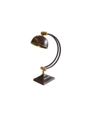 Skórzano - mosiężna lampa na biurko LAM-0030
