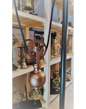 Skórzano - mosiężna lampa na biurko RHD-2711