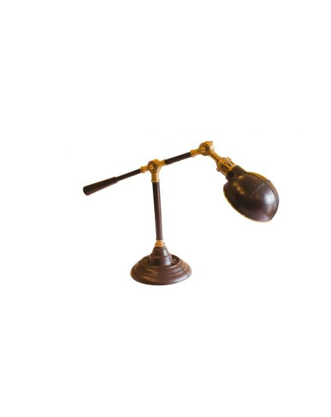 """Mosiężno - skórzana lampa biurowa """"Tom"""""""