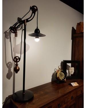 Mosiężna lampa na biurko z przeciwwagą RHD-2711