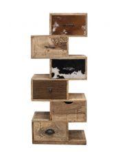 Szafka 6 szuflad - drewno mango M-8110