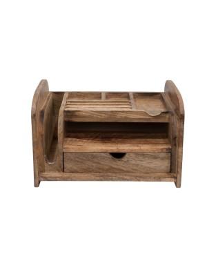 Organizer z drewna MANGO 35x25x22