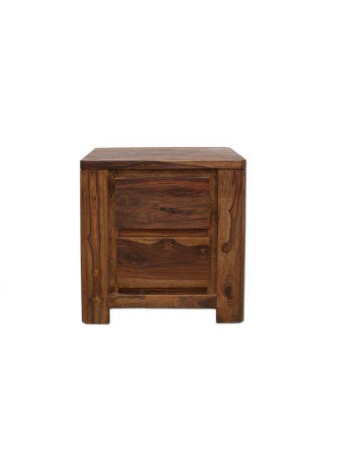 Stolik drewniany / Szafka nocna (2) PU brown