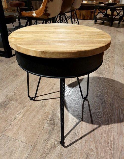 Okrągły stolik kawowy BARUN A-45 x 45 Teak