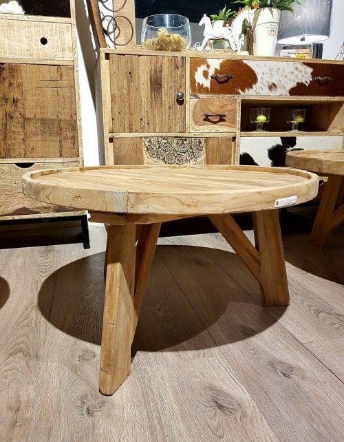Okrągły stolik kawowy Diamond A - 90 x 90 Teak