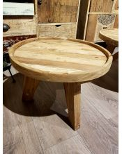 Okrągły stolik kawowy Diamond C - 50x50 Teak