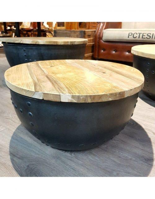 Okrągły stolik kawowy rozmiar S - 60 x 60 Teak