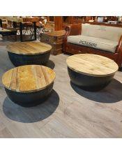 Okrągły stolik kawowy rozmiar M - 70x70 Teak