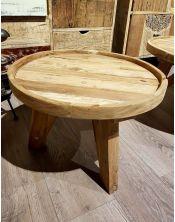 Okrągły stolik kawowy Diamond B - 70 x 70 Teak