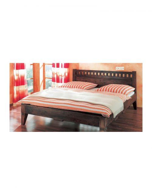 Łóżko drewniane 160 x 200 Walnut