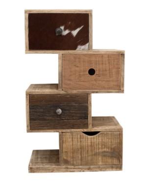 Szafka 4 szuflady - drewno mango M-11889