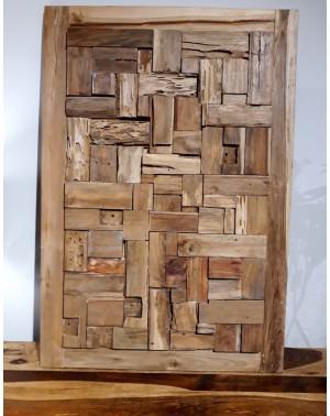 Obraz Puzzle Walldeco z drewna tekowego 80x80