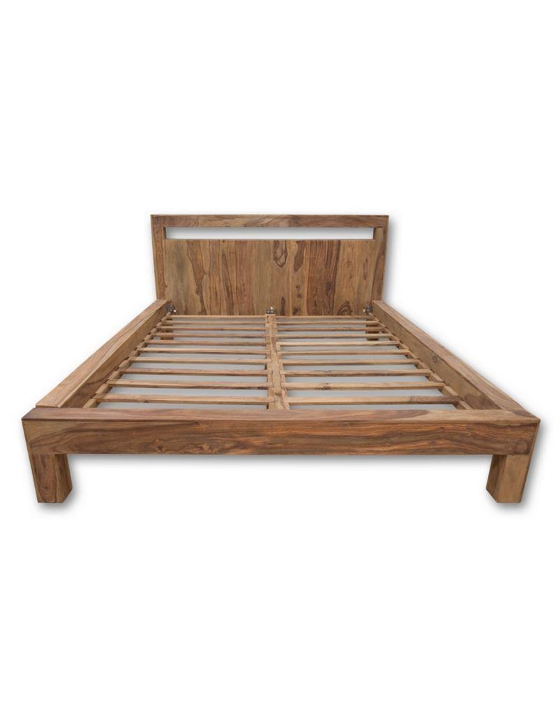 łóżko Drewniane 180 X 200 Natural Mandallin Meble Kolonialne