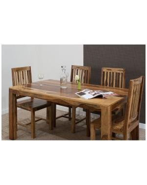 Stół drewniany jadalniany 160 / 250 (lakierowany) Shina Palisander
