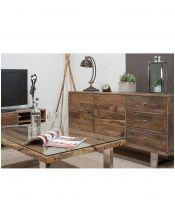 Komoda do salonu z drewna Mango (3+2) Rustico