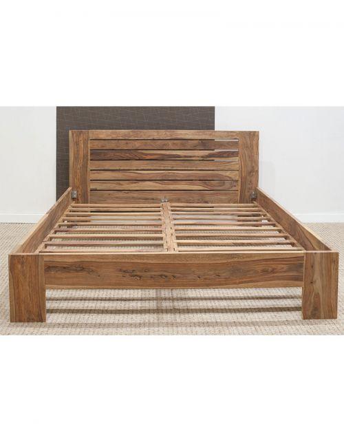 Łóżko drewniane 140x200 State Natural Palisander
