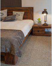 Łóżko drewniane 180x200 Spring PU Brown Palisander