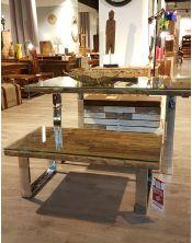 Stolik kawowy Rustico 110 x 40 x 60 + szkło hartowane 10mm
