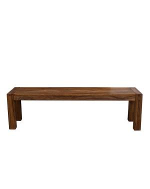 Ławka z drewna 160cm PU Brown