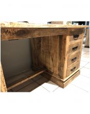 Biurko drewniane kolonialne MANGO (8 szuflad!) 180x75x80