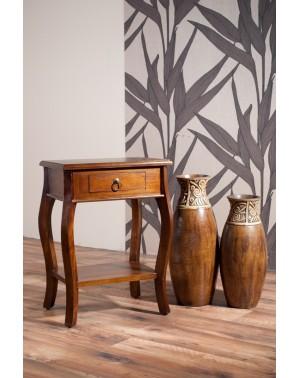 Stolik drewniany po lampę Klasyczny