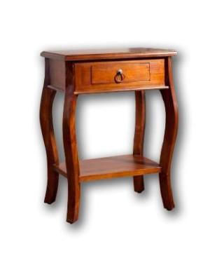 Stolik drewniany pod lampę Klasyczny
