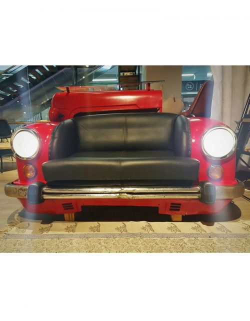 Stylizowana sofa samochód Red CAR 158cm (zapalane światła!)