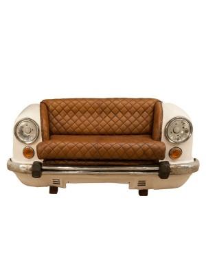 Stylizowana sofa samochod White CAR 158cm