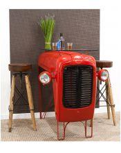 Stylizowany stolik kawowy Tractor + szklany blat