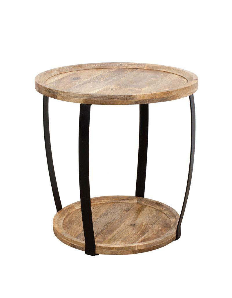 Okrągły Stolik Kawowy 60x60 Mango Mandallin Meble Kolonialne