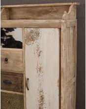Komoda do sypialni Rodeo z nadstawką na lustro 69x40x136
