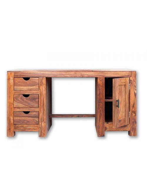Biurko drewniane (1+3, gł. 85cm) PU Brown