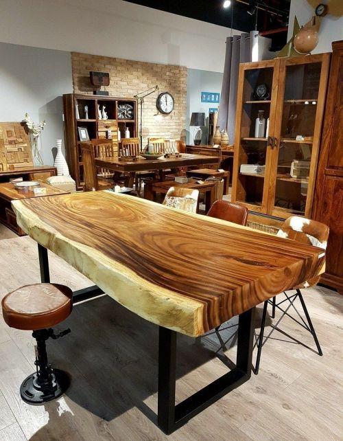 NOWOŚĆ! Okazały stół drewniany jadalniany SUAR WOOD 180/100-110cm. Waga ok. 130kg!