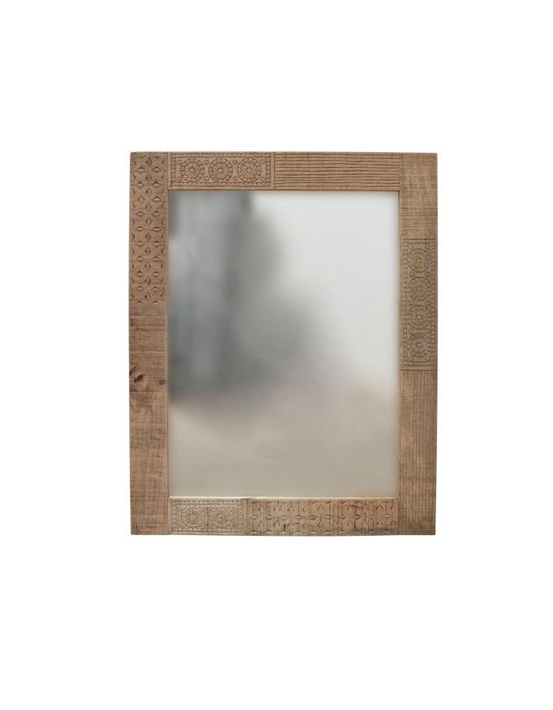 Lustro z drewna mango 100x80