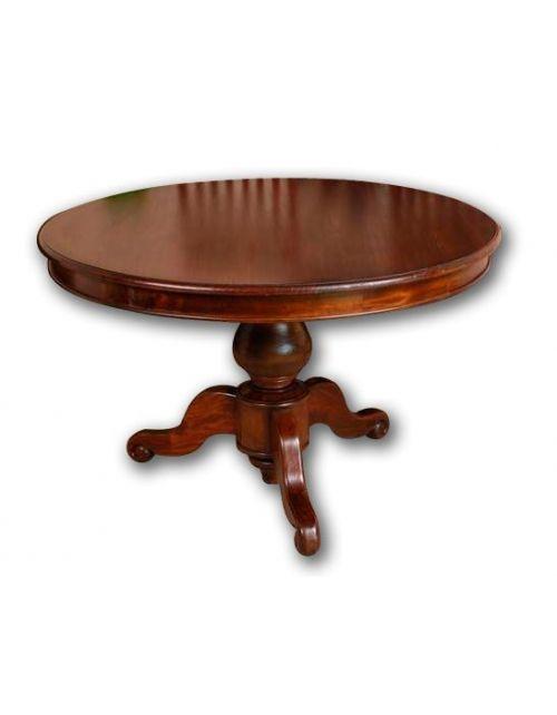 Stół okrągły 120 cm Klasyczny Mahoń