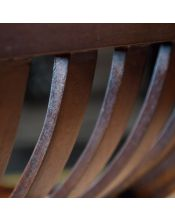Fotel z obiciem skóra Klasyczny Mahoń