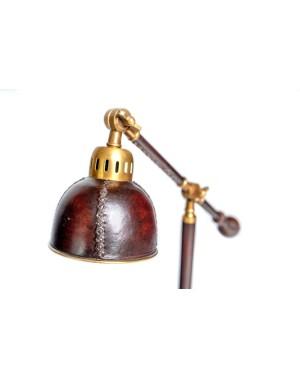 Mosiężno - skórzana lampa BEN 52x16x50cm