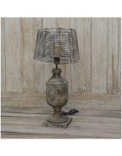 Lampa drewno i stal 19x19x74