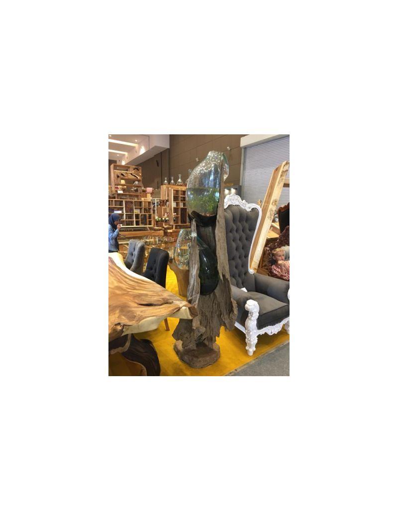 Szklana kula, drewno suar TTR80