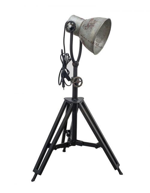 Okazała lampa stojąca na trójnogu 62/93cm