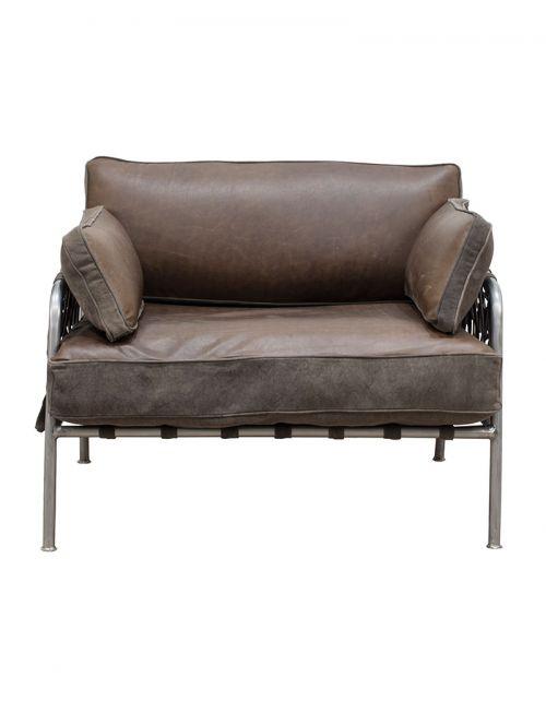 Brown Sofa pojedyncza 95x75x76